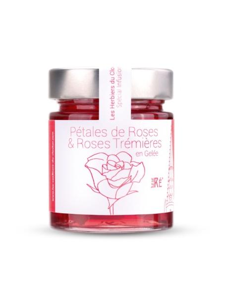 Infusion Pétales de roses et roses trémières en gelée