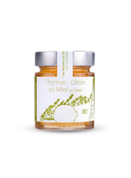 Infusion thym-citron au miel en gelée