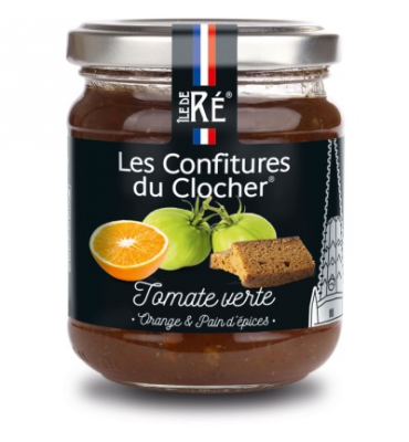 Confiture de tomate verte, orange et pain d'épices