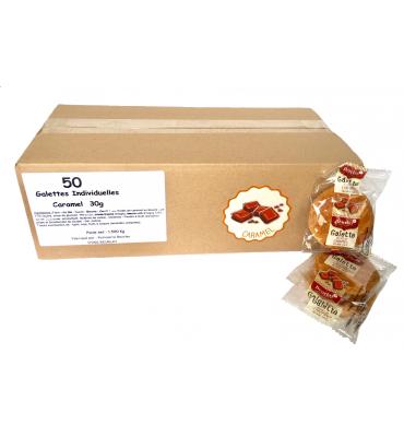 Carton de 50 galettes 30g CARAMEL
